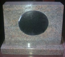 multiple-color red granite pets headstone 2015