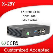 2014 lowest price XCY big promotion mini pc x-29y n2810 fanless 10*10 motherbaord pc 4g ram 128g ssd win7 64 bit tablet pc