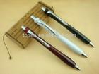 Stainless Steel Ballpoint Retractable Pen, Black Ink, Fine Point