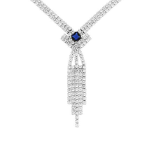 2015 Cup chain necklace jewelry wholesale china, 925 silver necklaces, tennis necklace