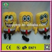 HI EN71 2014 hot sale funny sponge bob stuffed toy