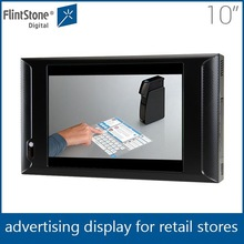 Flintstone 10inch plastic case touch screen lcd monitor,small shelf hanging digital monitor