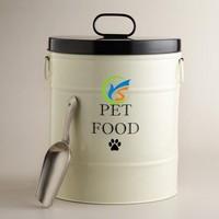 Wholesale galvanized metal pet food storage box with shovel