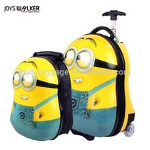 2015 newest 18 inch hot sale cartoon design luggage set for children