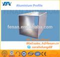 Perfil de aluminio extruido 6063 t5 tubo cuadrado, anodizado de aluminio tubular perfiles de tubo redondo, extrusión de aluminio de 15mm tubo de fábrica