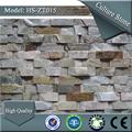 Hs-zt015 cinza industrial folheado de pedra parede instalação da telha