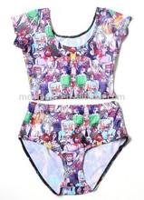 2014 fancy dress beach wear swimsuit dress custom printed swimwear Hst1062
