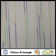Colorful stripe silk cotton fabric for garment