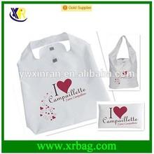 fashion heart shaped reusable folding shopping handle bag