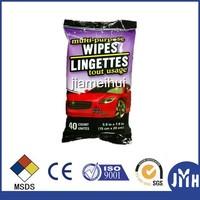 Multi purpose refresh car exterior clean wet wipes