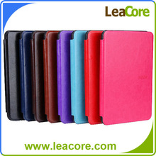 """6"""" Scratch Resistant Plain Colored Folio Leather Case Cover for New Kindle"""