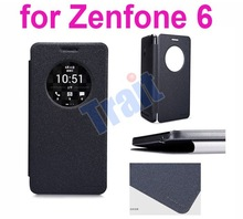 Hot Selling Smart Wake/Sleep Leather Flip Case for ASUS Zenfone 6 Paypal Accepted