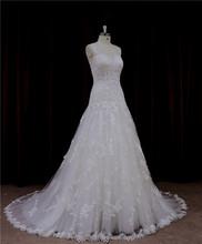 Charming slim Empire waist sheath split plain satin wedding gown 2012