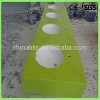 Apple green countertops, artificial quartz stone vanity top