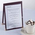 Tent tabela do menu restaurant pvc cafe tampa do menu