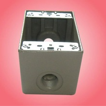 China 1DB 2-5/8-Inch Deep 1-Gang 3 Outlet 23.8 Cubic Inch aluminium box, Gray ,Die Cast Aluminum sold by factory directly