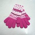 más caliente de acrílico guantes con jacquard