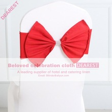 red new model high quality hot selling fashion wedding chair sash