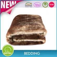 New design faux fur throw fabric wholesale rabbit fur blanket