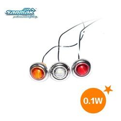 "Mini size 1.2"" led signal light white red amber color dustproof 0.1W 12V led light"