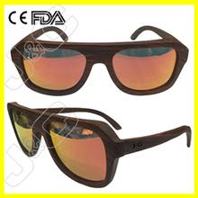 100% handmade bamboo and wood wholesale sunglasses with designer brand sunglasses case
