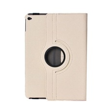 pu leather smart cover 360 degree rotating case for ipad air 2 air2 / ipad 6