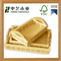 antique wholesale unfinished chinese wood tea tray