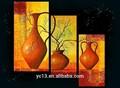 3 pcs painel de pintura a óleo da flor imagem para decoração de casa