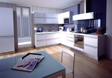 Metal white kitchen cabinet PKC-206