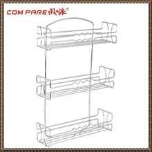 3 Tier Wall Mounted Spice Rack, Chrome