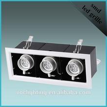 Suspended Adjustable MR16 Ra95 480lm LED Grill Ceiling Light