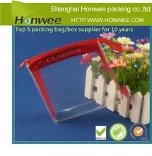 2014 big new high quality clear zipper pvc bag packaging