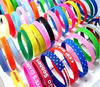 Custom Flexible Personalized silicone bracelet silicone with printing logo,Fashion colorful promotional gifts silicone hand band