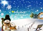 Decorative Painting canvas painting fiber optic snowman