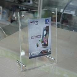 6x8 acrylic photo frame, clear acrylic frameless photo/picture frame