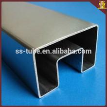 Sanitary Standard Brushed Stainless Steel Welded Rectangular Pipe
