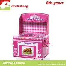 Cartoon folding storage box kitchen pink box toys kitchen