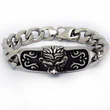 2015 Konov Jewelry Men's Titanium Animal Bracelet
