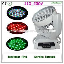 108X3W Pro LED Wash Moving Head DJ lighting
