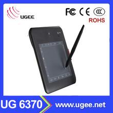 Ugee UG 6370 6x4 inch digital signature pad graphics writing pen tablet