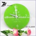 grande y redondo de vidrio de reloj de pared de arteimagen verde