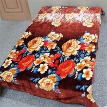 queen size china wholesale 100% wool print branded blanket