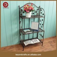 Top quality hot sale 3 tier design metal flower pot rack
