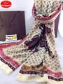 Moda match estilo britânico 100% fiação de lã e cachecóis/pashmina