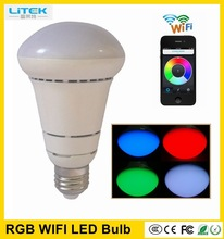 Longer lifespan,lower cost 7W RGB wifi led light bulb Rgbw Controller