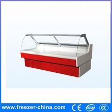 Made in China high quality open glass grocery store fresh meat and cooked food refrigerator with CE certification