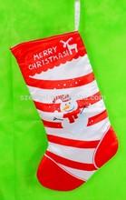 Popular Red Striped Funny Christmas Socks