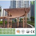 Wood plastic composite wpc pergola feixe com gv, ce, iso, fsc