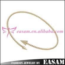 Easam Palestine Reflective Zinc Alloy 14k gold snake bangle bracelet