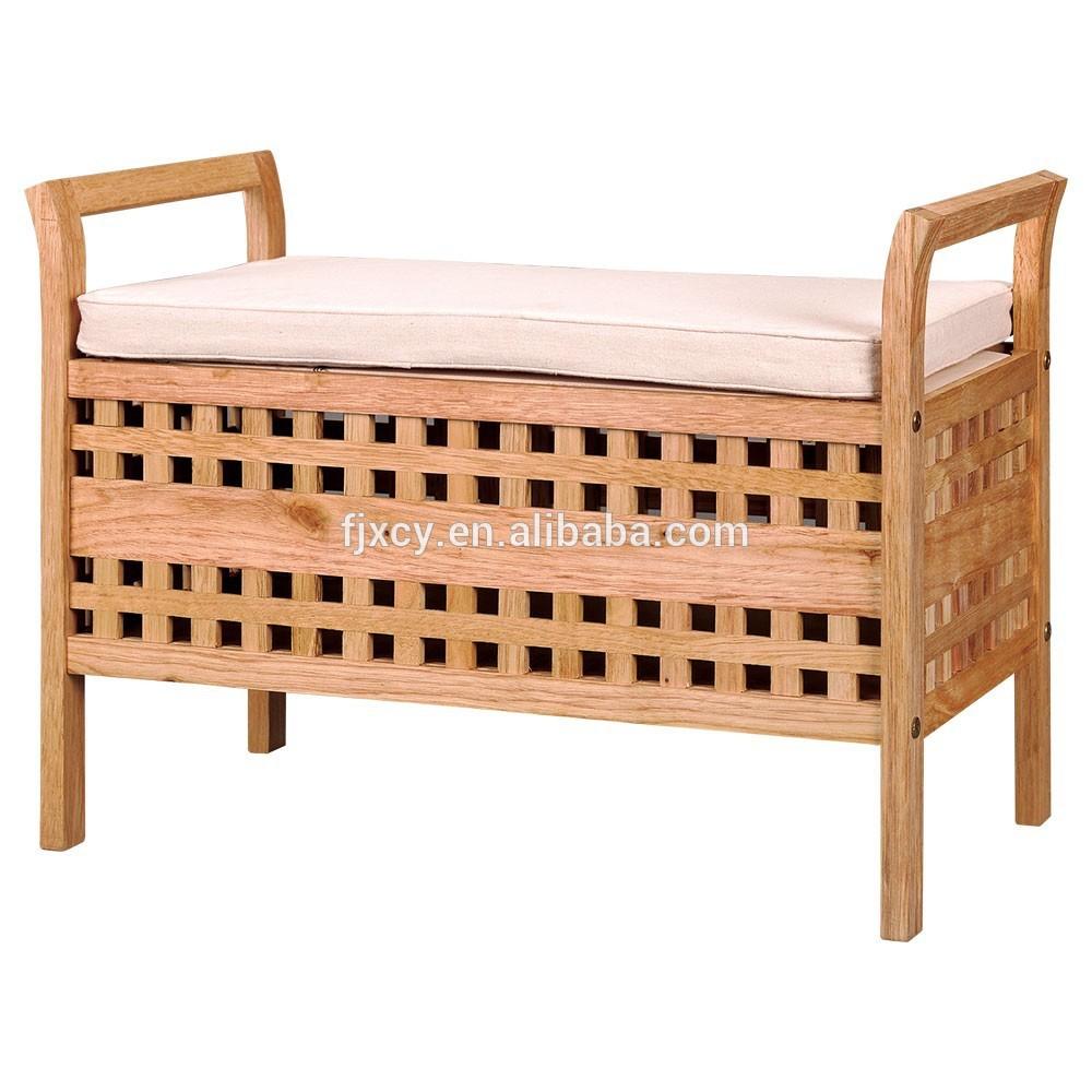 Lidl solide salle de bains en bois banc de rangement for Banc bois salle de bain
